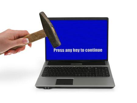 computer problems: frustrato con problemi di computer,