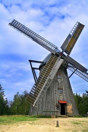 historical wooden windmill Stock Photo - 3459931