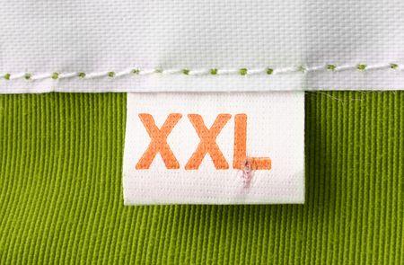 etiquetas de ropa: real macro de tama�o XXL de ropa etiqueta