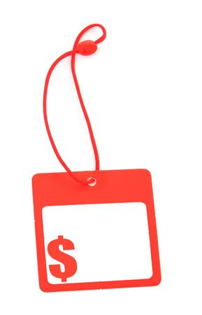 gifttag: tag with dollar symbol and copy space for price, no copyright infringement