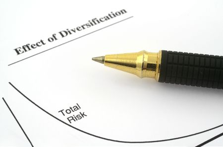 business chart with total risk and ballpoint pen Stock Photo - 3605997