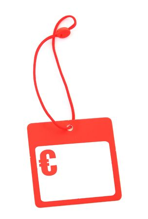 gifttag: tag with Euro symbol and copy space for price, no copyright infringement