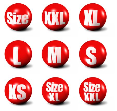 red 3D spheres - sizes collection  Stock Photo - 3650545