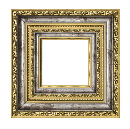 richly: richly decorated frame with isolated on white