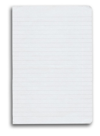 notebook paper background: notebook paper with shadow over white background