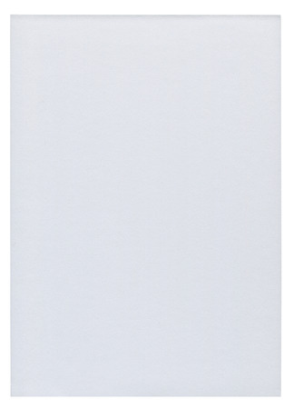 memorise: Piece of white blank paper isolated on pure white background Stock Photo