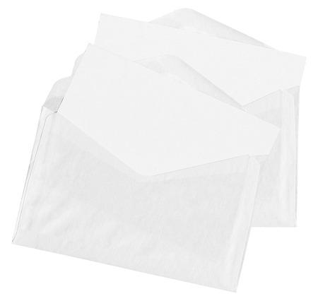 Two envelopes isolated on pure white background photo