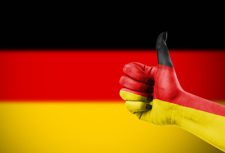 affirmative: Flag of Germany painted on hand