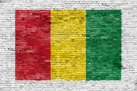 reggae: Couleurs Reggae peintes sur le mur de briques blanches