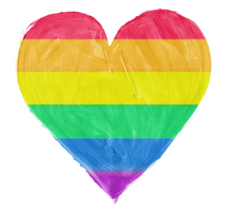 Symbol of gay,lesbian love isoloated on pure white background photo