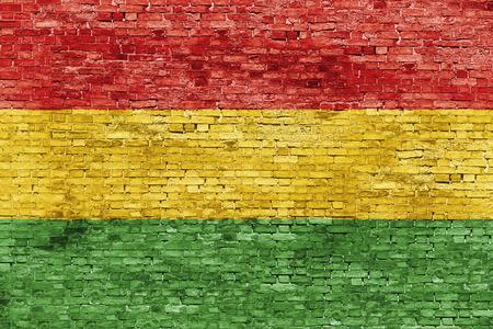 reggae: Couleurs de la musique reggae peintes sur le mur de briques blanches