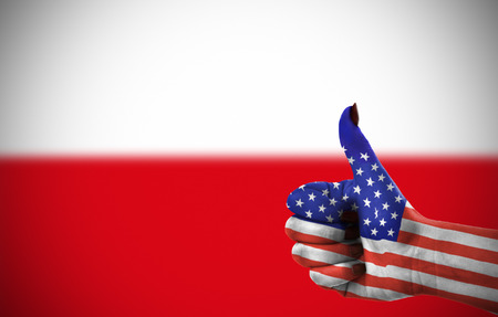 poland flag: Support from United States for Poland
