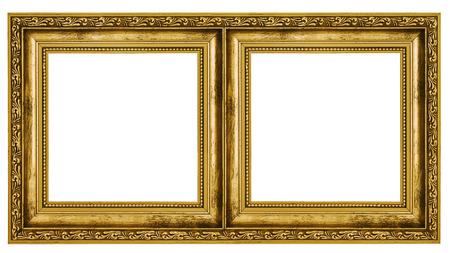 duplex: Double frame isolated on white background Stock Photo