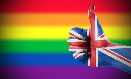 approbation: Concept photo - Positive attitude of Great Britain for LGBT community