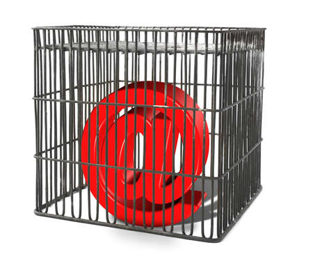 infringement: At sign trapped in a cage, there is no infringement of trademark copyright