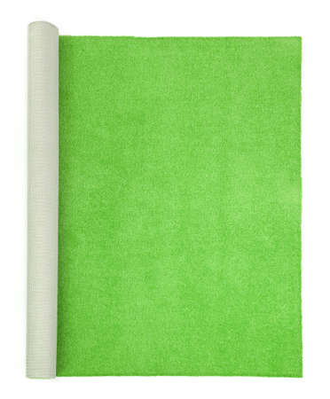 green carpet: green carpet on white background , top view
