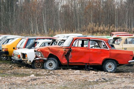 The old broken cars