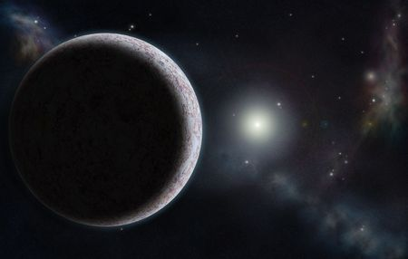 starfield: Digital created starfield with cosmic Nebula