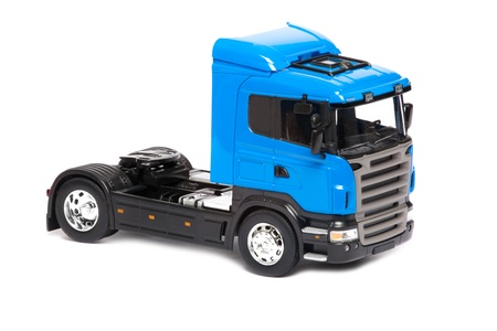toy heavy truck isolated over white background Stock Photo - 8952033