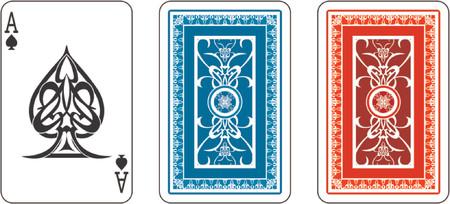matching: As y se pongan en venta de nuevo de la cubierta de jugar a las cartas  Vectores