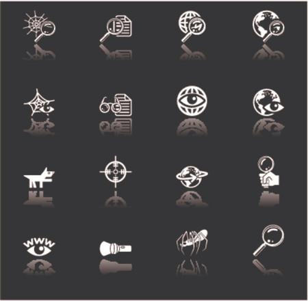 A series of web search icons set. Vector