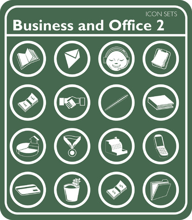 Business and office icons. Vector