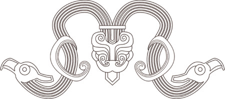 A deign element based on Chinese designs circa 7th century BC. Vector