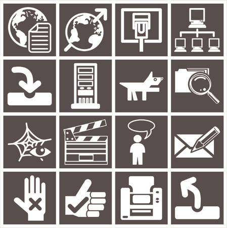 a series set of web icons Stock Vector - 663392