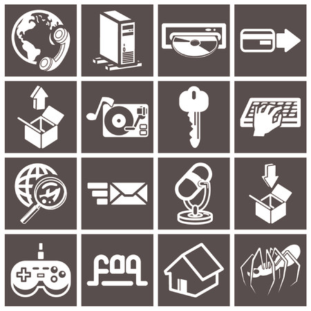 a series set of web icons Vector