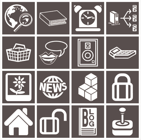 a series set of web icons Stock Vector - 663389