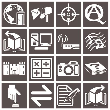 toolbar: Una serie di icone web