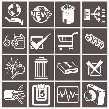 a series set of web icons