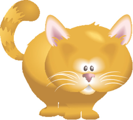 blends: A cute kitty cat! No meshes used, all blends or gradients.