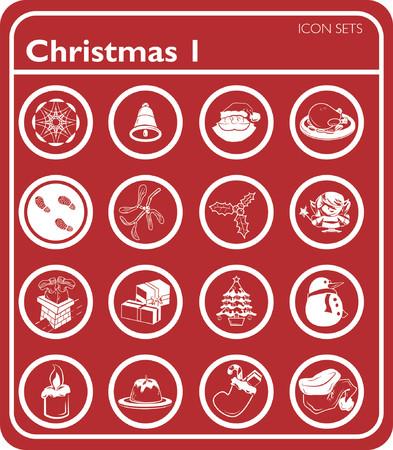 Christmas Icons series set Vector