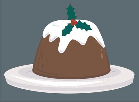 Christmas pudding Vector