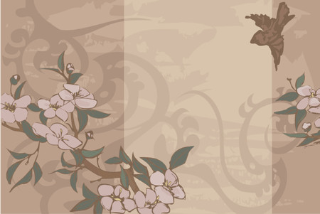 romp: Floral background