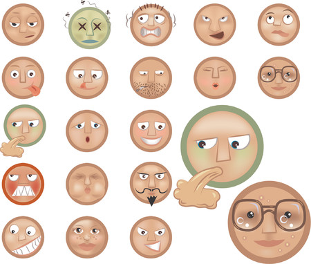 a set of emoticons Vector