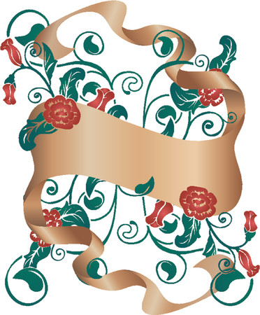 Floral design element with scroll Stock Vector - 654338