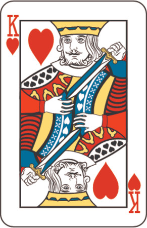 king of hearts: King of hearts from deck of playing cards Editorial