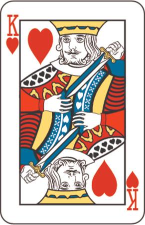 rey: Rey de corazones de baraja de naipes  Editorial