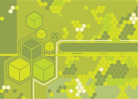 flier: Background featuring hexagons. Illustration