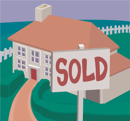 suburbia: a house newly sold