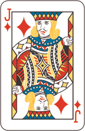 Jack of diamonds Stock Vector - 654301