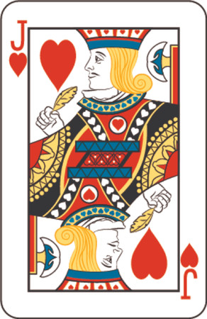 Jack of hearts Stock Photo - 654302