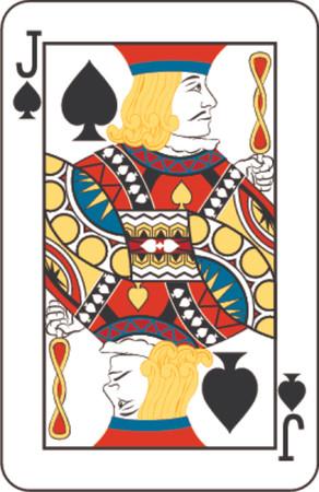 cards poker: Jack of spades