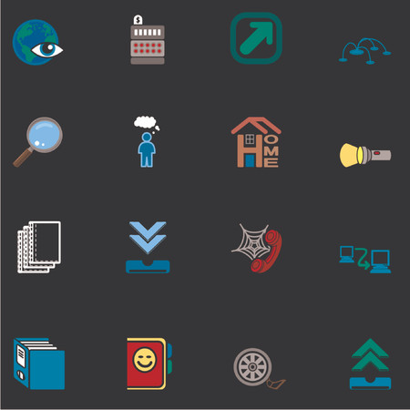 Web and Computing Icons Series Set Vector