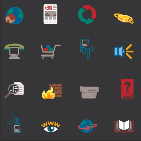 Web and Computing Icons Series Set Vector