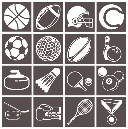 series of icons or design elements relating to sports Stock Vector - 663268
