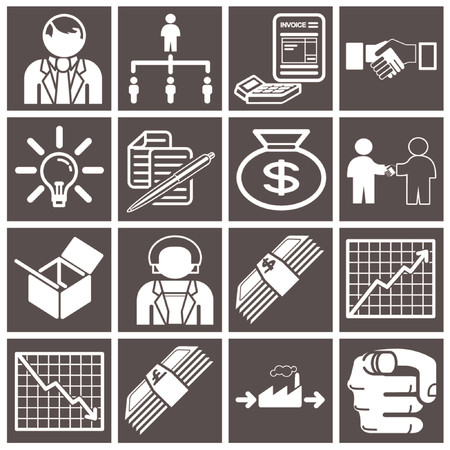 account management: Business icon set series Illustration
