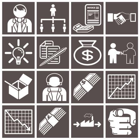 productividad: Negocios icono conjunto serie